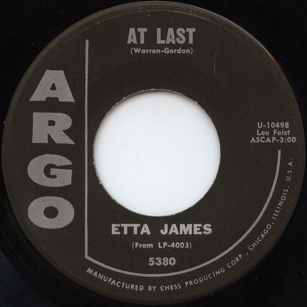 English: Etta James – At Last/I Just Want to M...