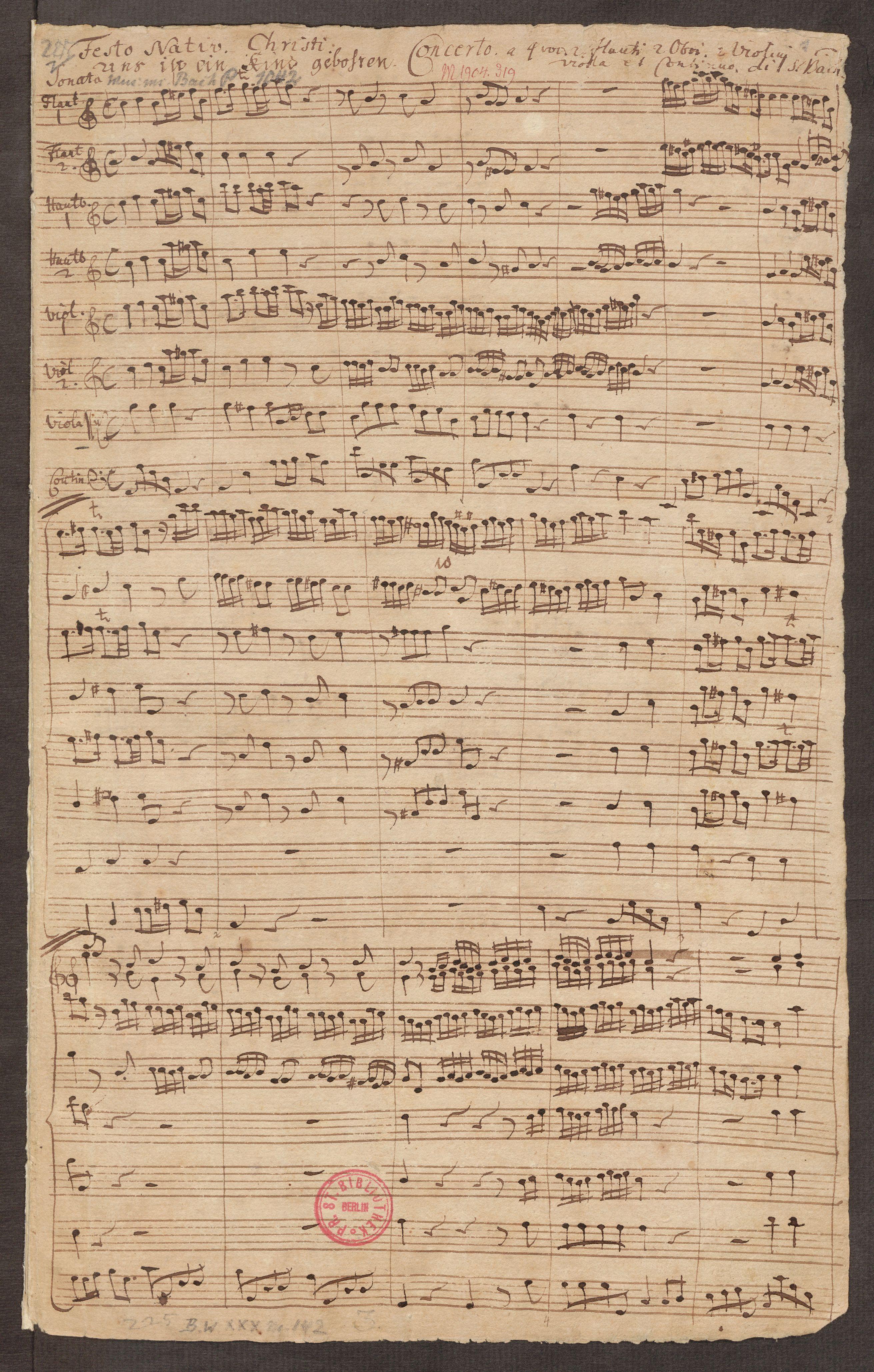 Uns ist ein Kind geboren (Three Christmas Motets Nr. 2) - Score