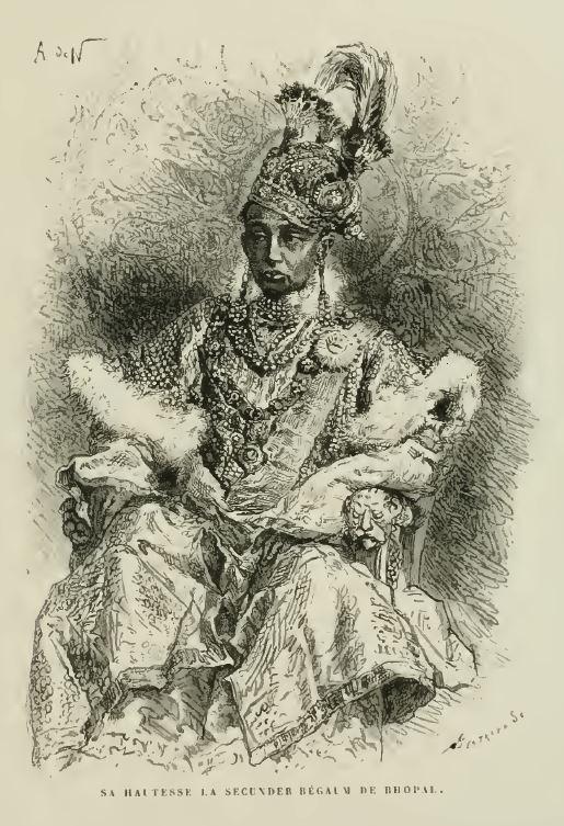 Sikandar Begum. Photo credit: Louis Rousselet/Wikimedia Commons [Public Domain].