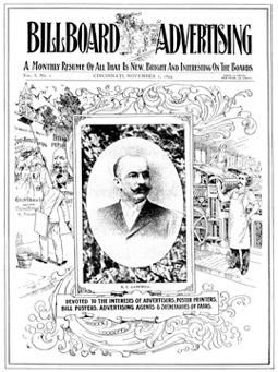 De eerste uitgave van Billboard Advertising uit 1894