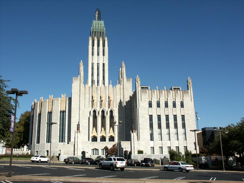 The Boston Avenue Methodist Church in Tulsa is a National Historic Landmark.