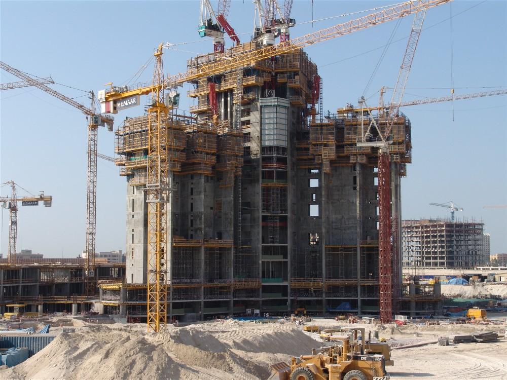 burj khalifa foundation construction