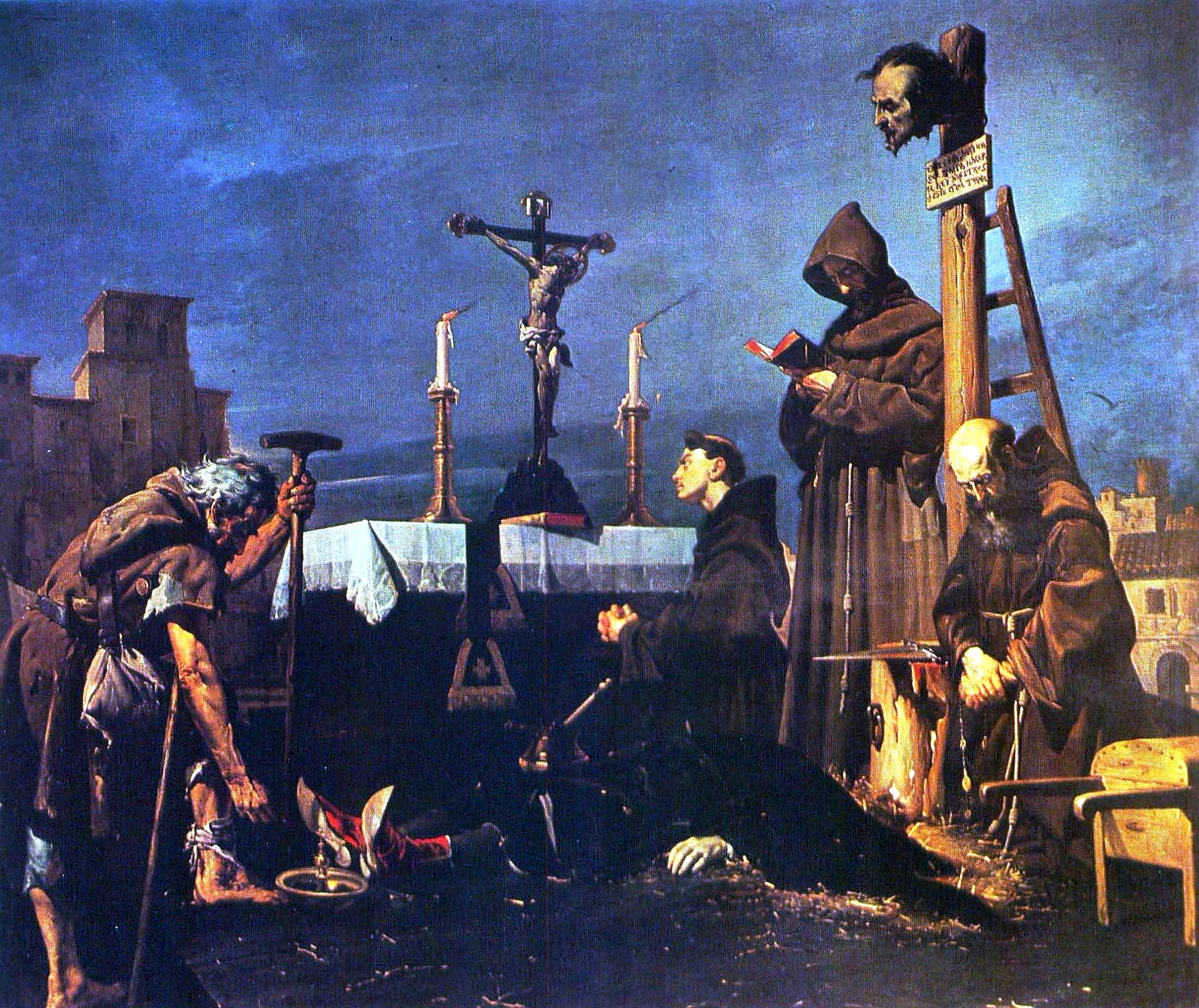 Colecta para sepultar el cadáver de don Álvaro de Luna, de José María Rodríguez de Losada.