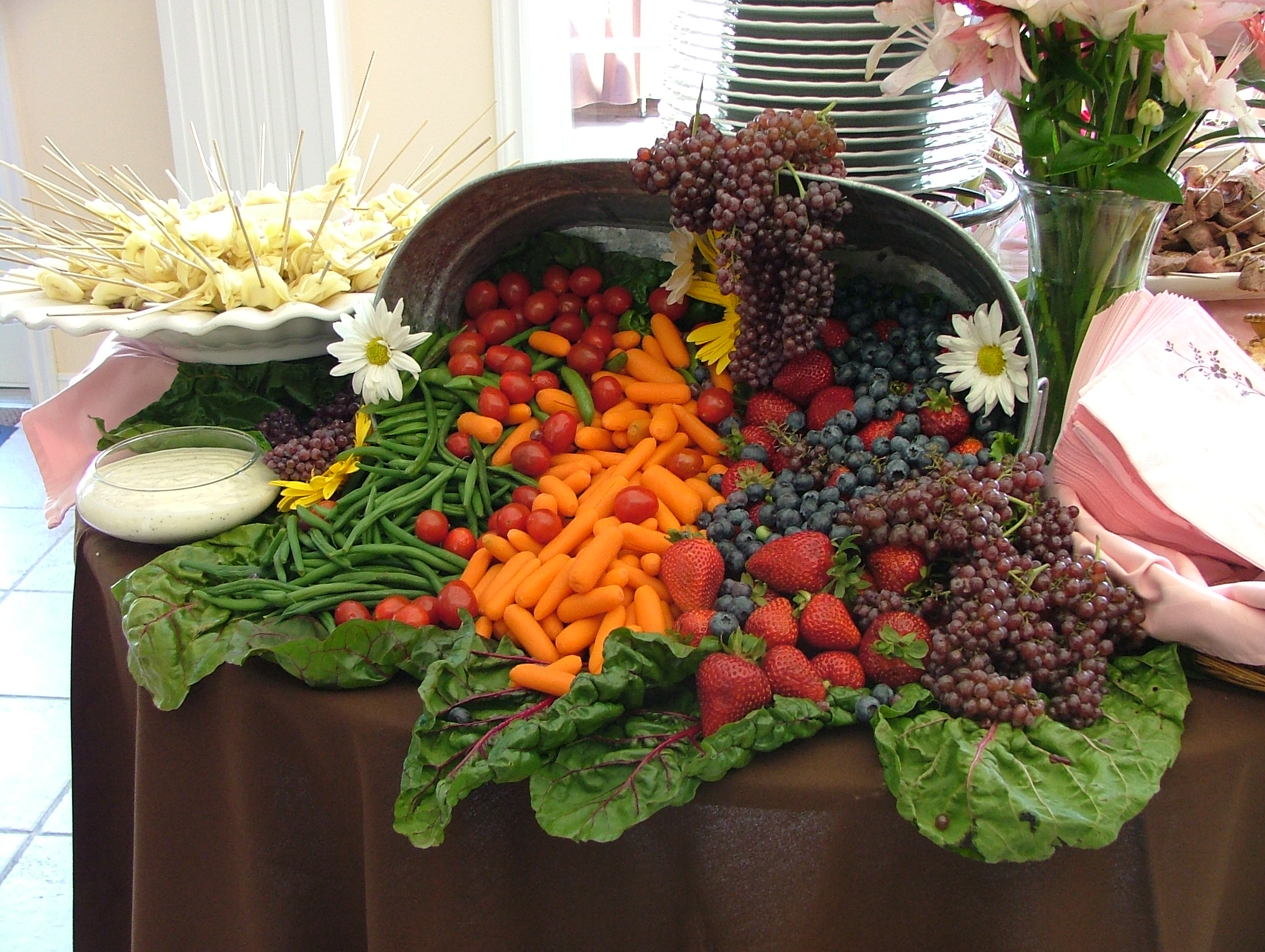 File cornucopia of fruit and vegetables wedding banquet