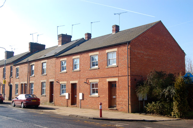 File daventry end of terrace st james street geograph for Terrace street