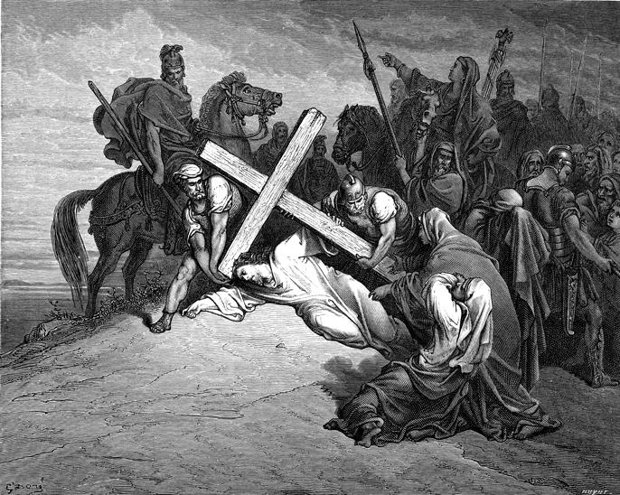 갈보리(골고다)에 도착하신 예수님 (귀스타브 도레, Gustave Dore, 1866년)