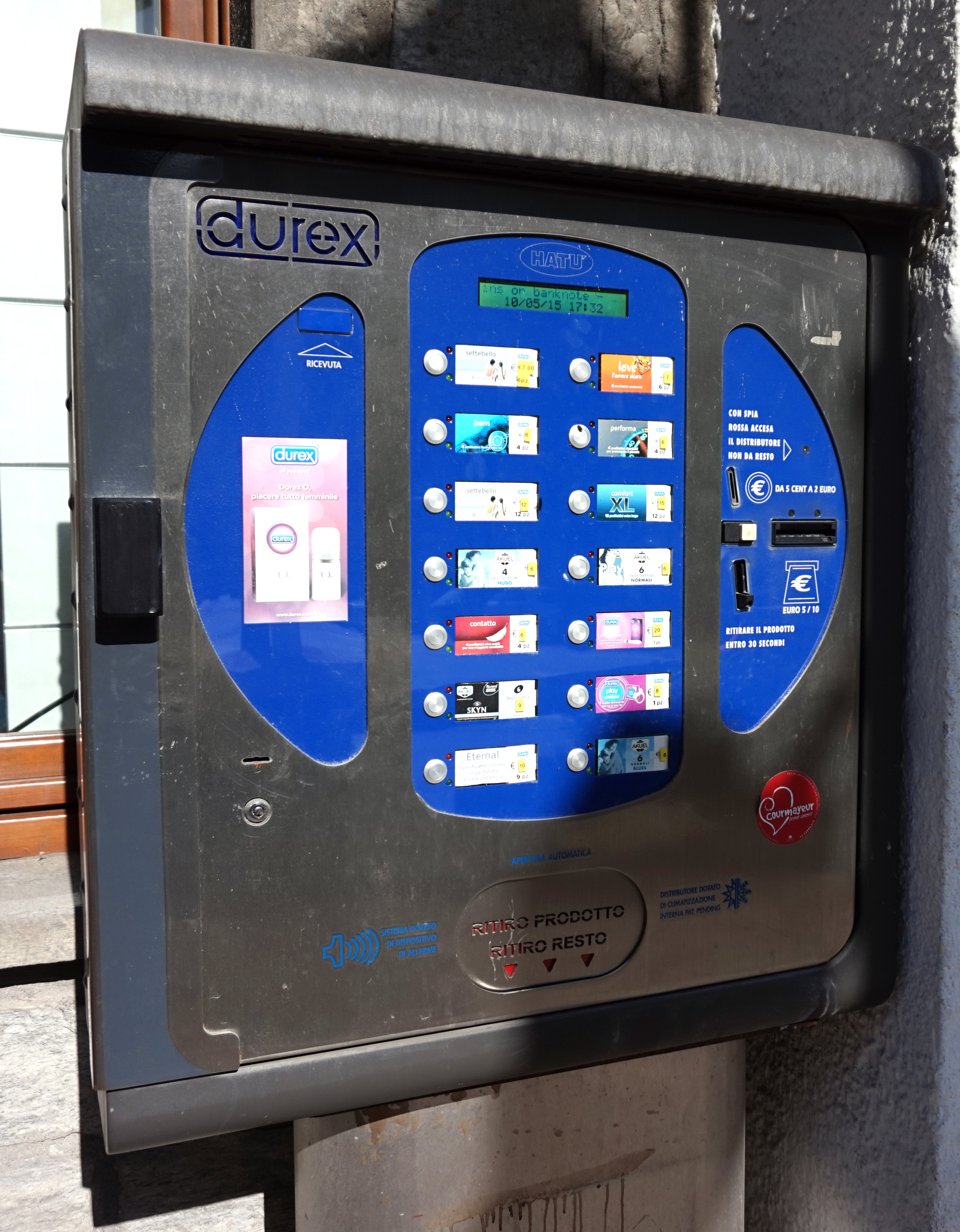 Condom vending machines