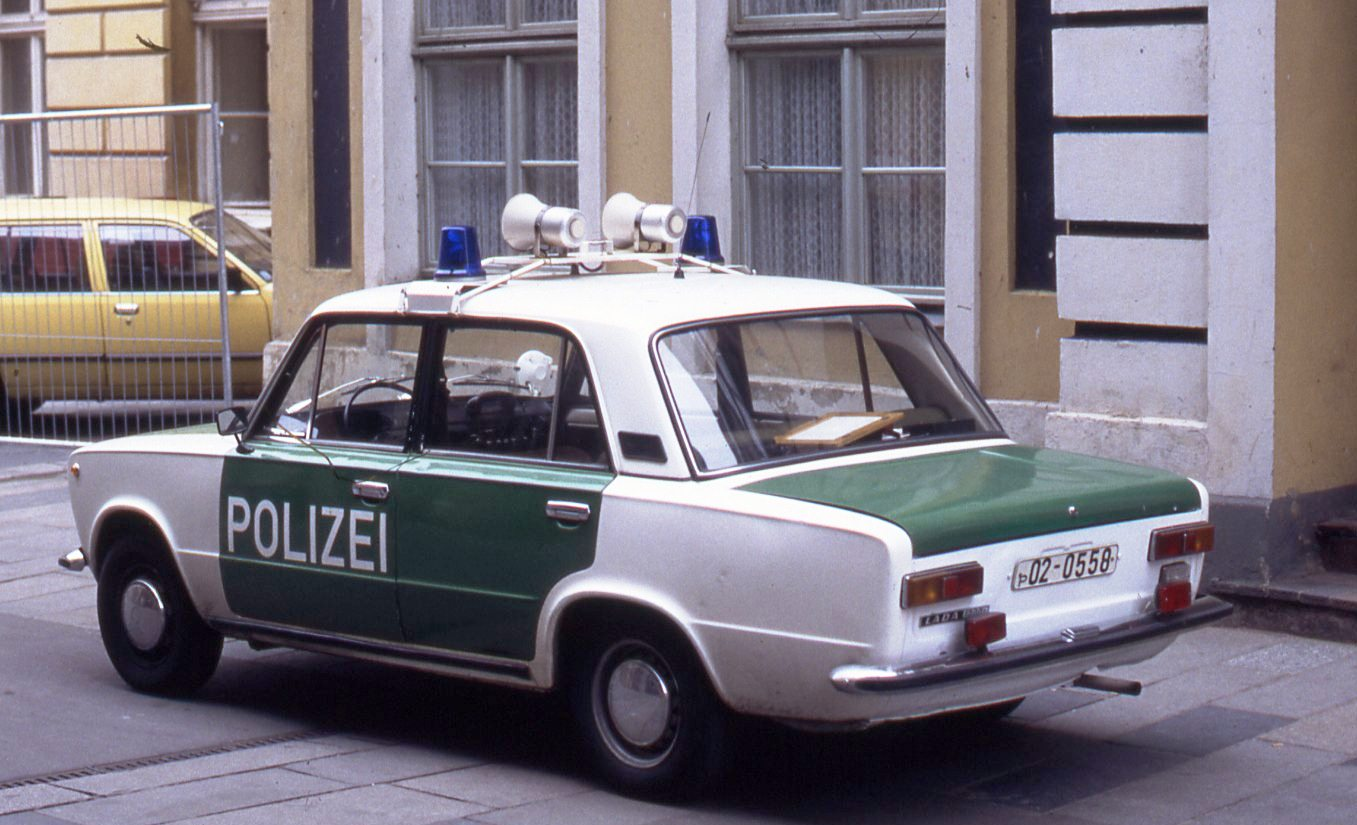 File East German Police Car In The New Colors Of Germany
