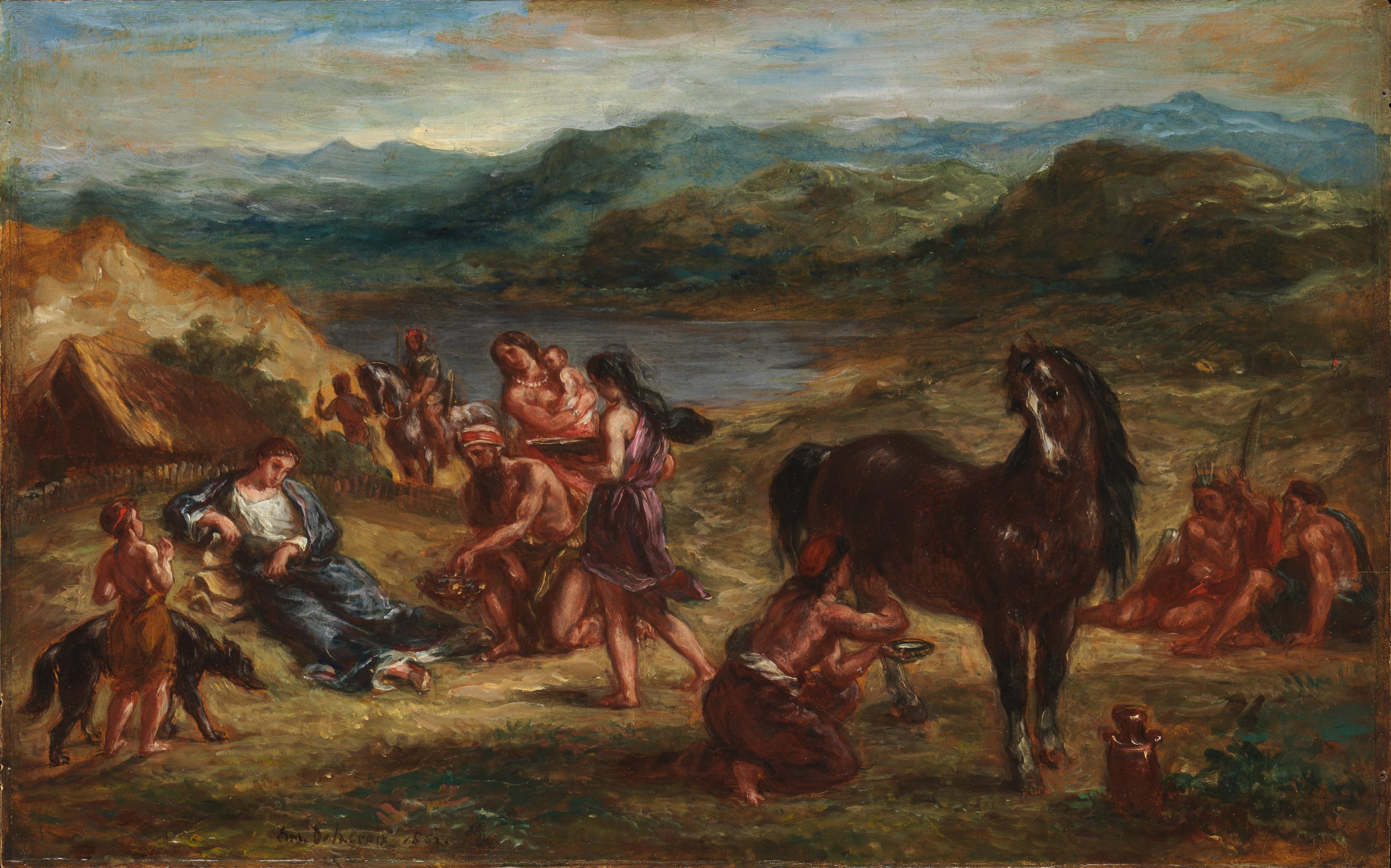 Ovidio tra gli Sciti, quadro di Eugène Delacroix. Esposto al Metropolitan Museum of Art, New York City