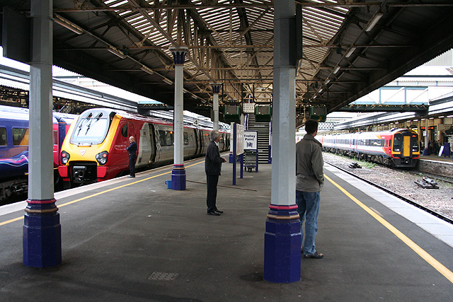File Exeter On Exeter St Davids Station Geograph Org Uk 597388