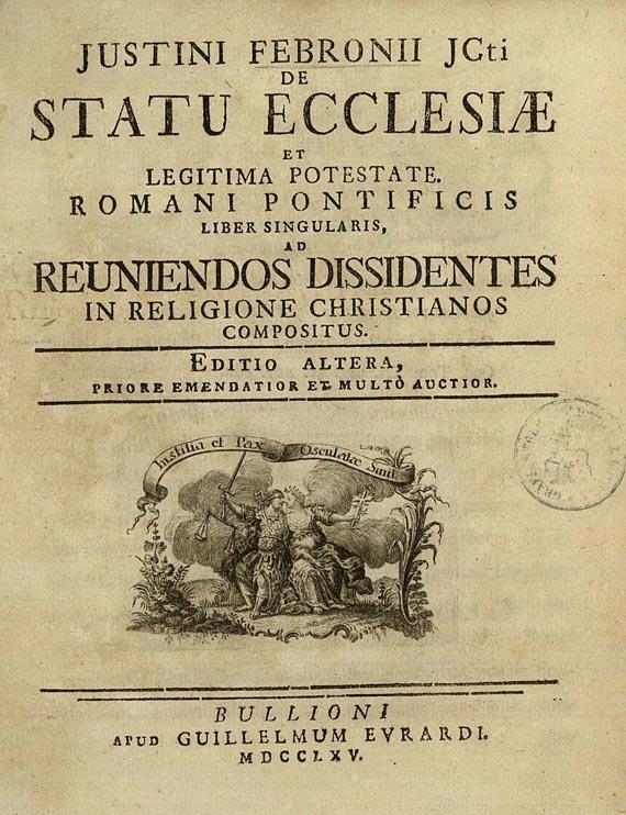 Febronius' treatise ''De Statu Ecclesiae''