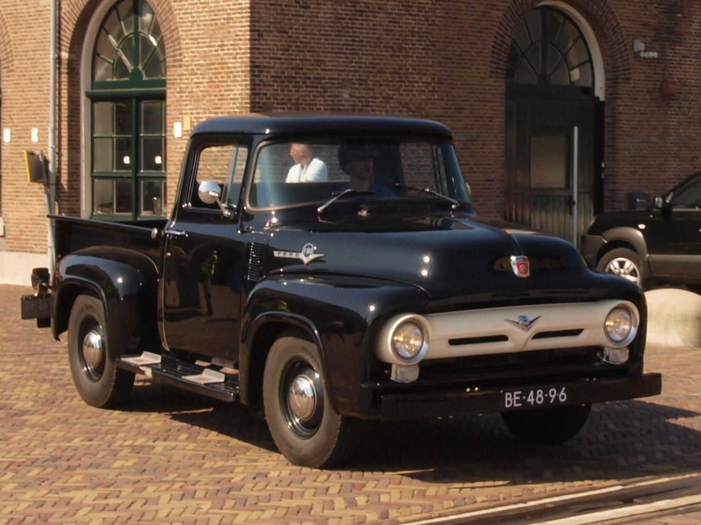 File Ford F 100 1956 Dutch Licence Registration Be 48