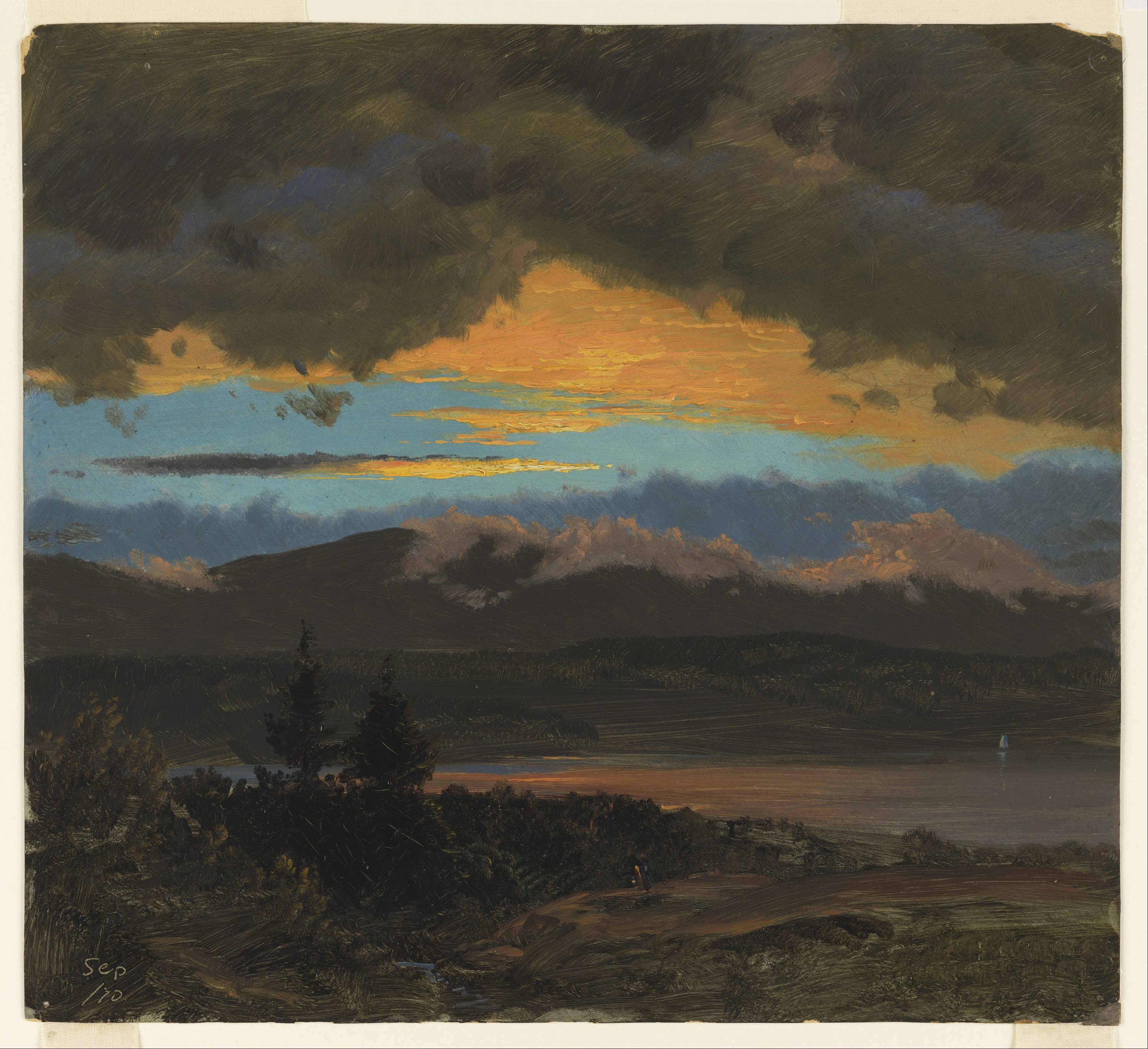 File frederic edwin church sunset across the hudson for Frederick church paintings