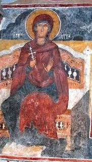 Fresco in Saint Petka Church in Selnik.jpg