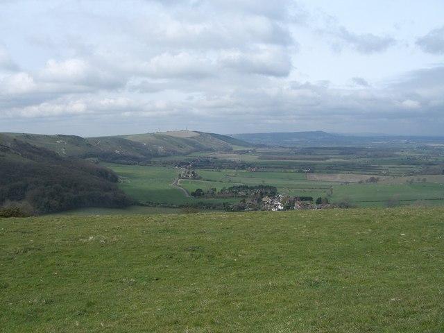 Fulking escarpment and spring line - geograph.org.uk - 388244