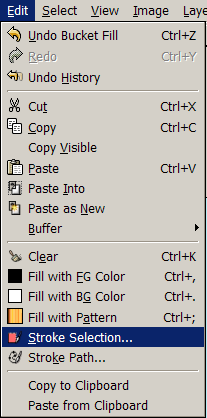 cut and paste in gimp