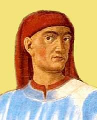 Portrait de Boccace, détail d'une œuvre d'Andrea del Castagno, 1449.
