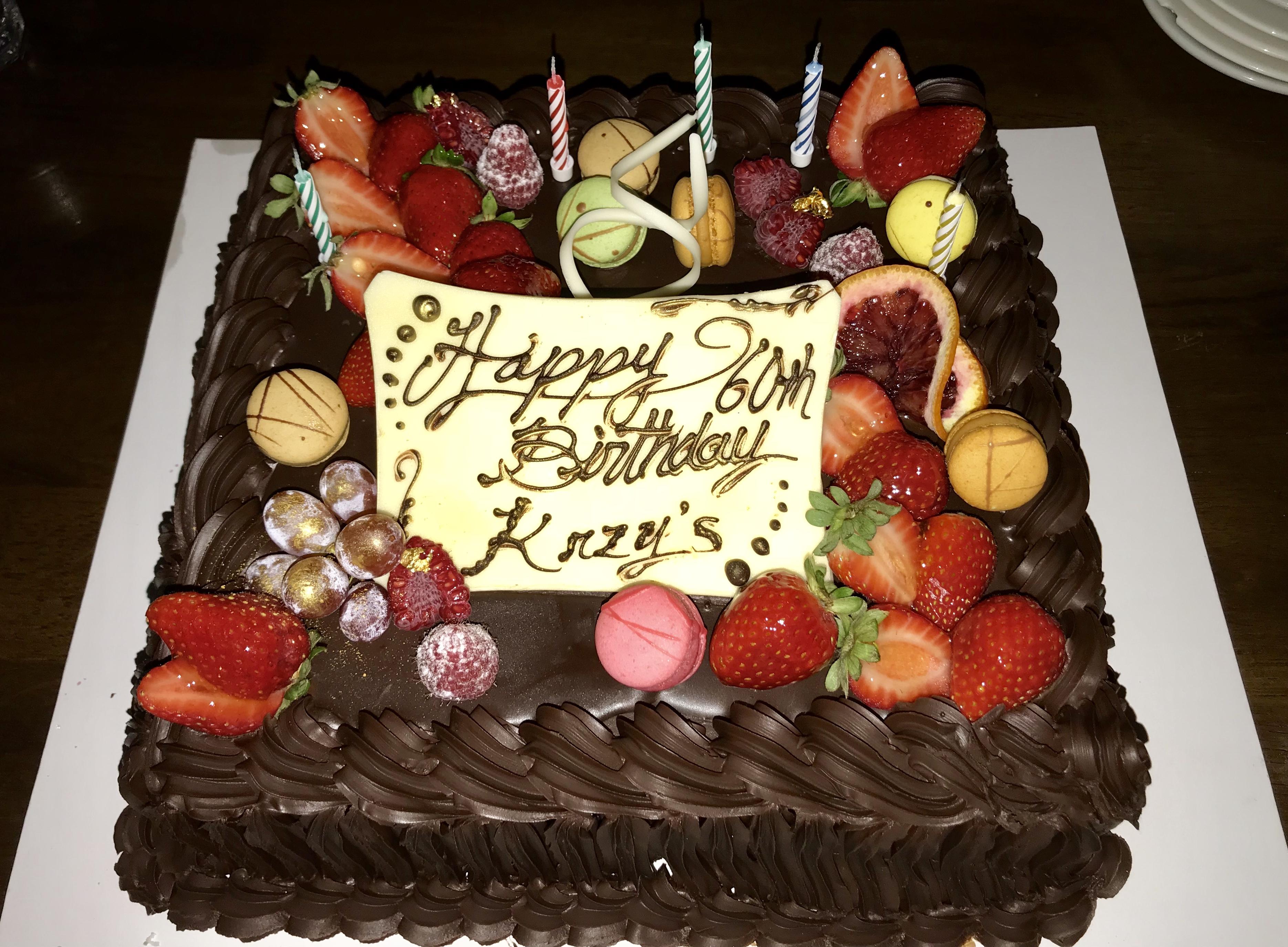 Stupendous File Happy 60Th Birthday Krzys Chocolate Cake 03 Wikimedia Personalised Birthday Cards Veneteletsinfo