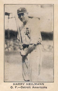 1922 baseball card of Heilmann