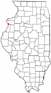 Location of Keithsburg, Illinois