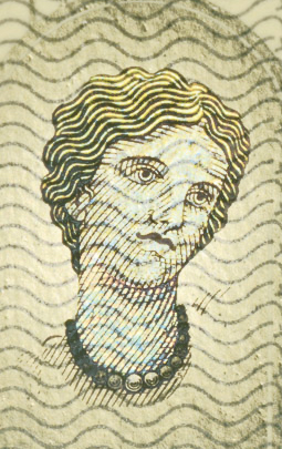 The portrait of Europa is also contemplated amongst the security features, but the theme of the banknotes is still the same. Imago Europae euronis.jpg