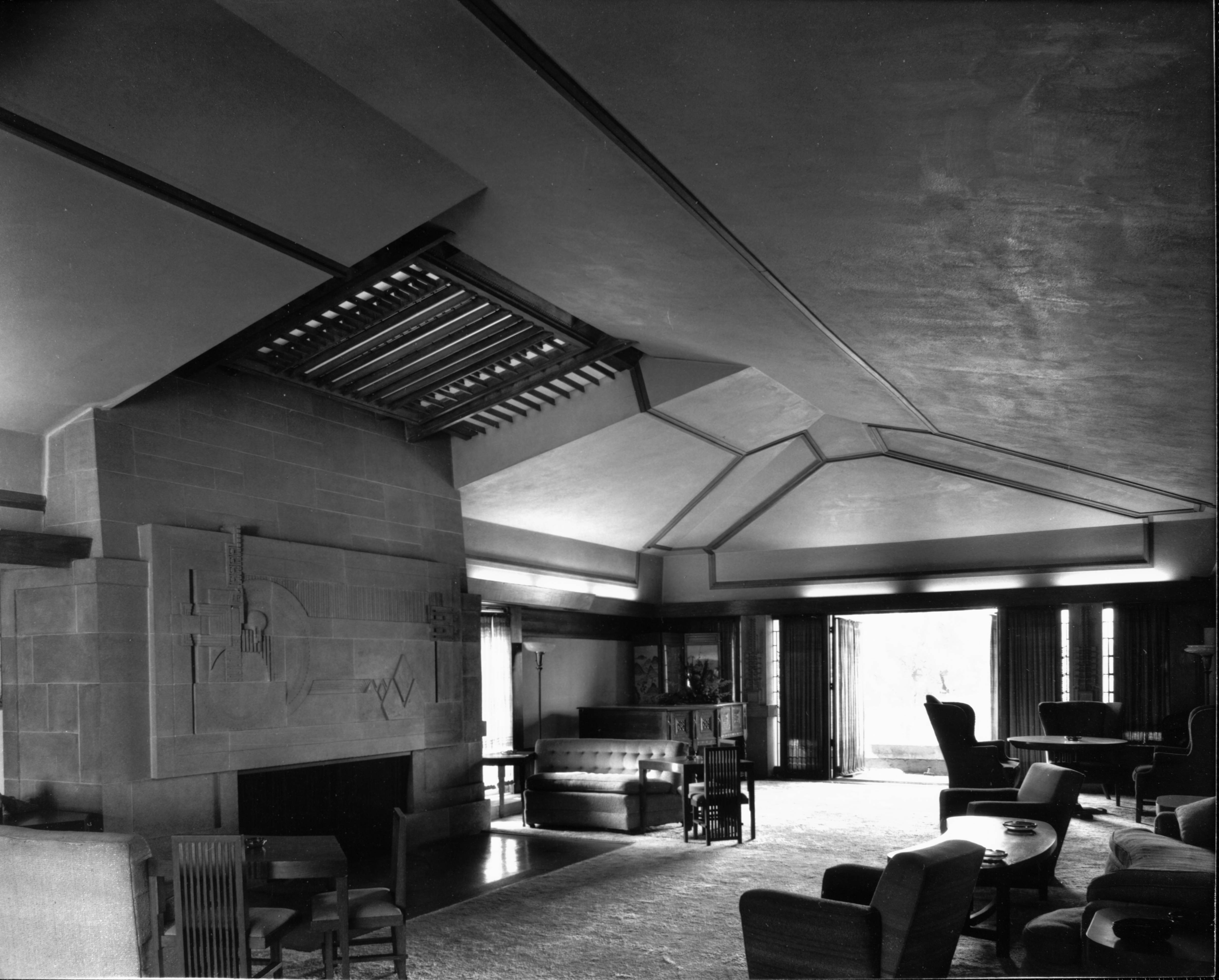 File Interior View Of The Hollyhock House Los Angeles