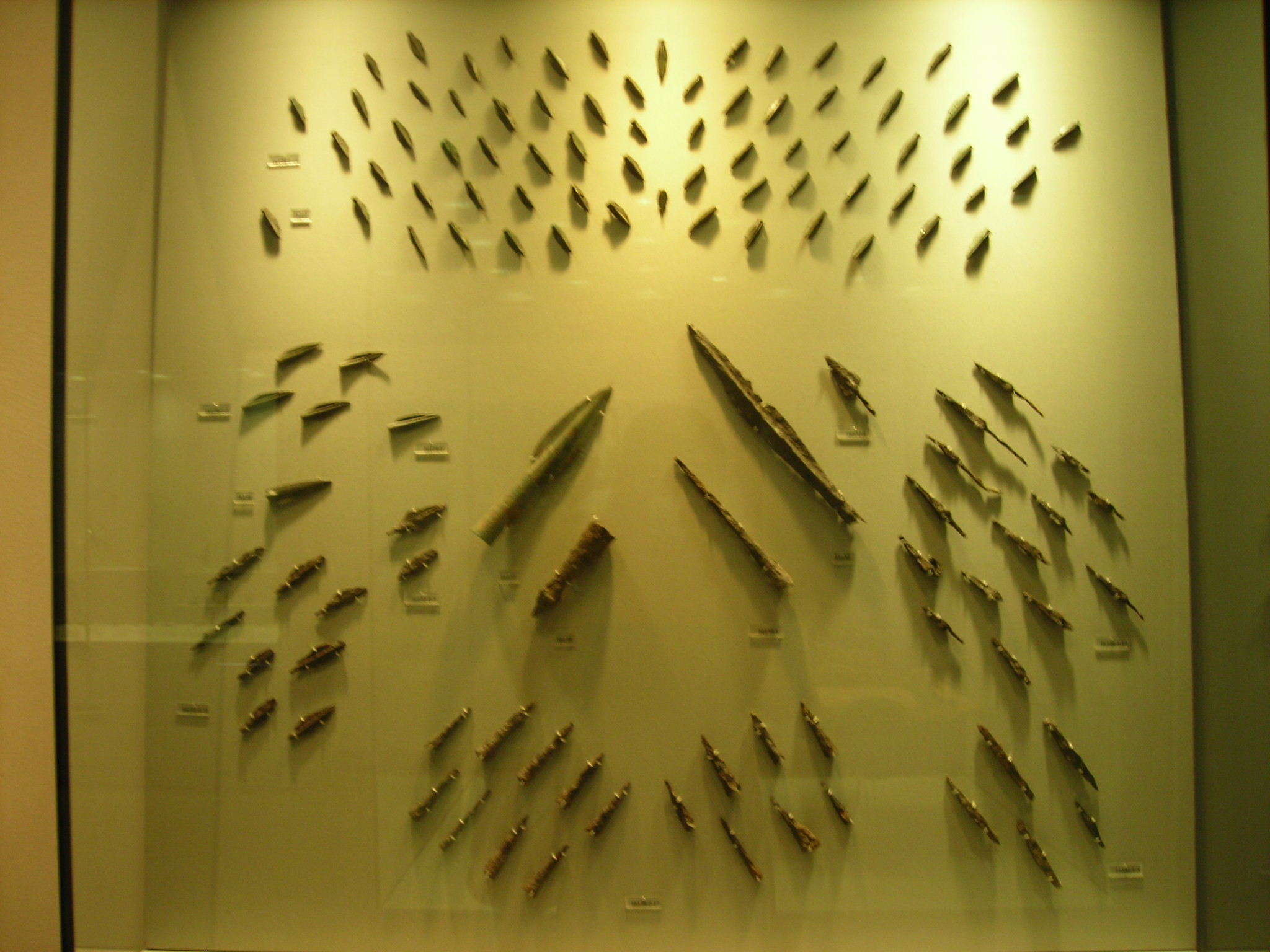 Iron arrowheads and spearheads from Thermopyle