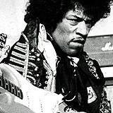 English: Jimi Hendrix at the amusement park Gr...