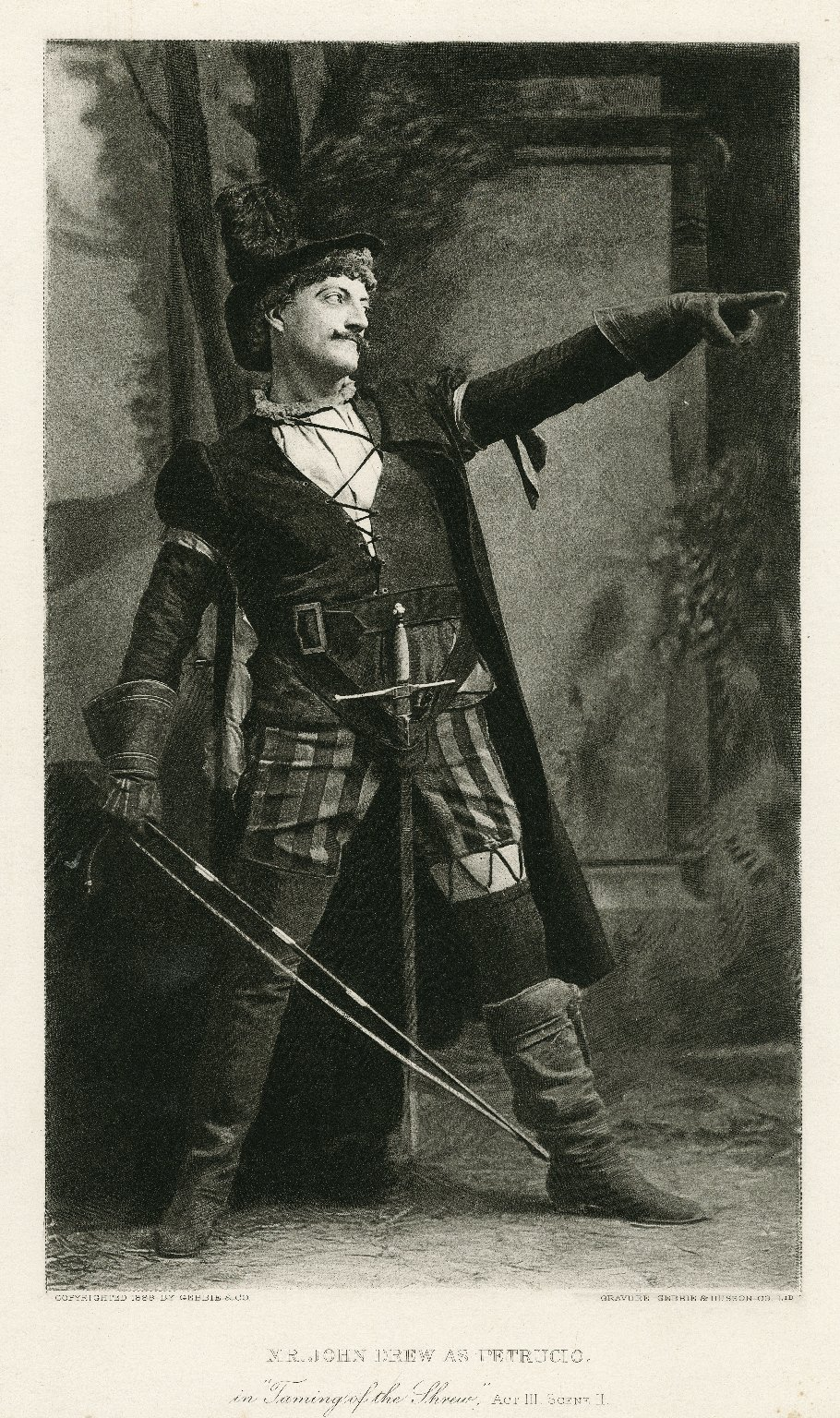 File John Drew as Petruchio print Wikimedia mons