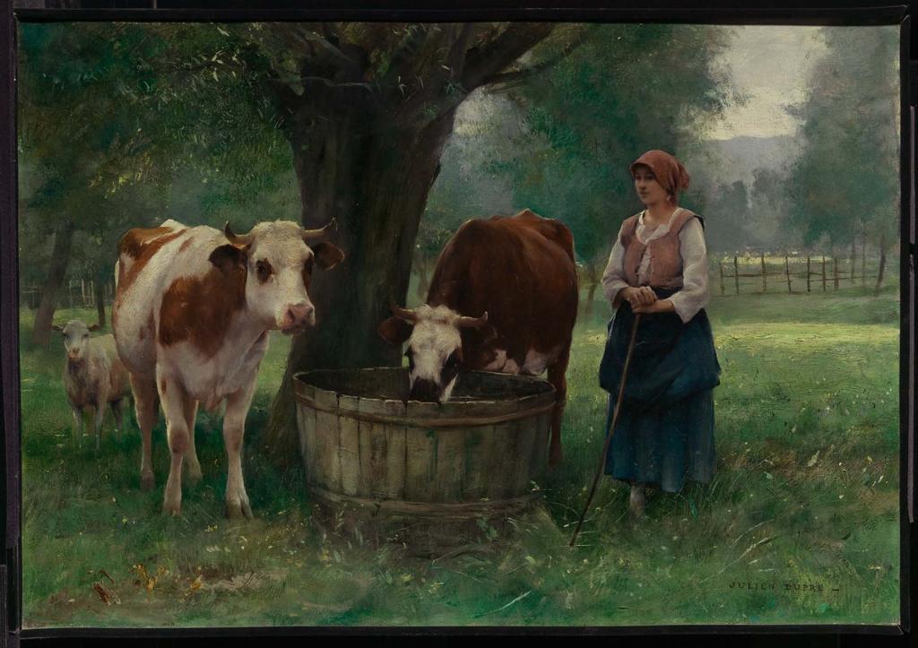 Картинки женщина с коровой