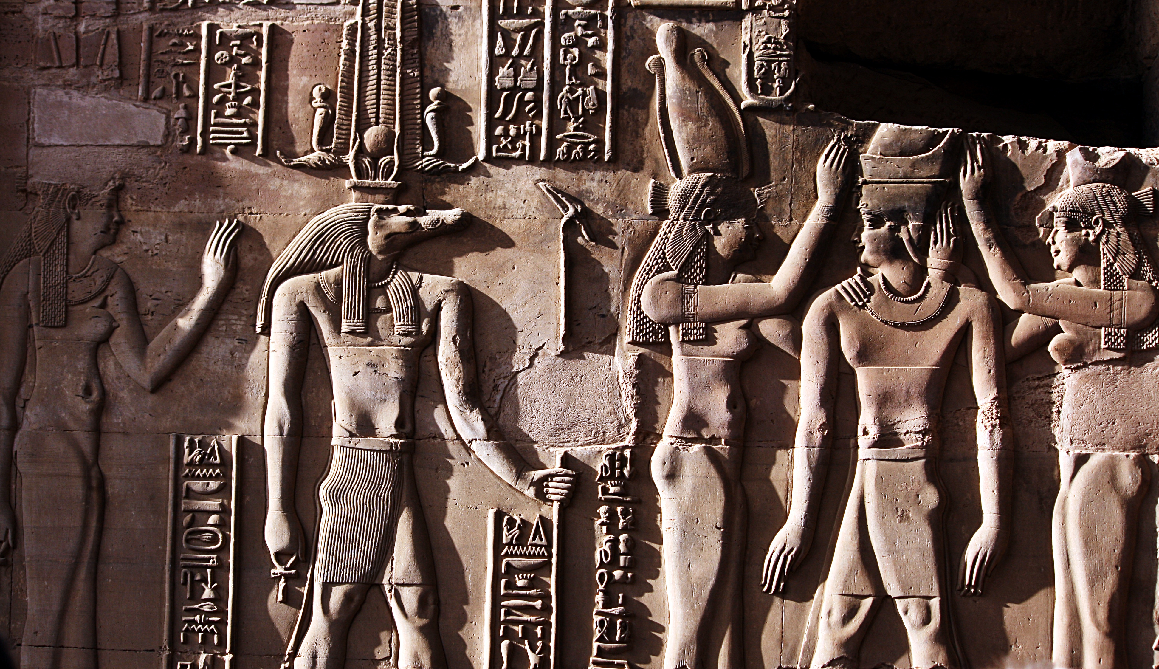 Sobek as seen in ancient Egyptian stone monument carvings...
