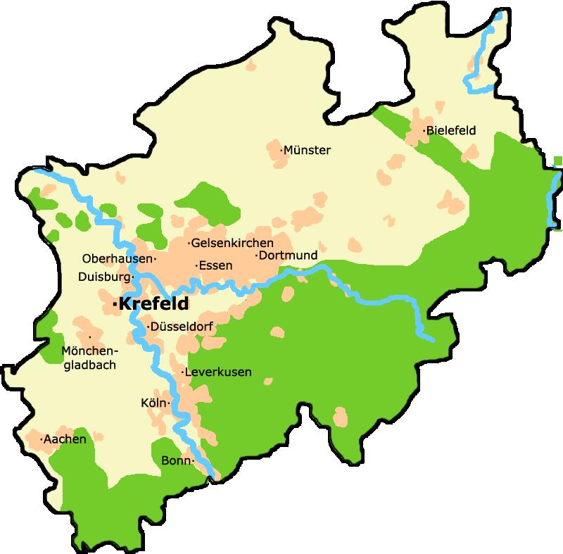 Bildergebnis für krefeld nrw karte