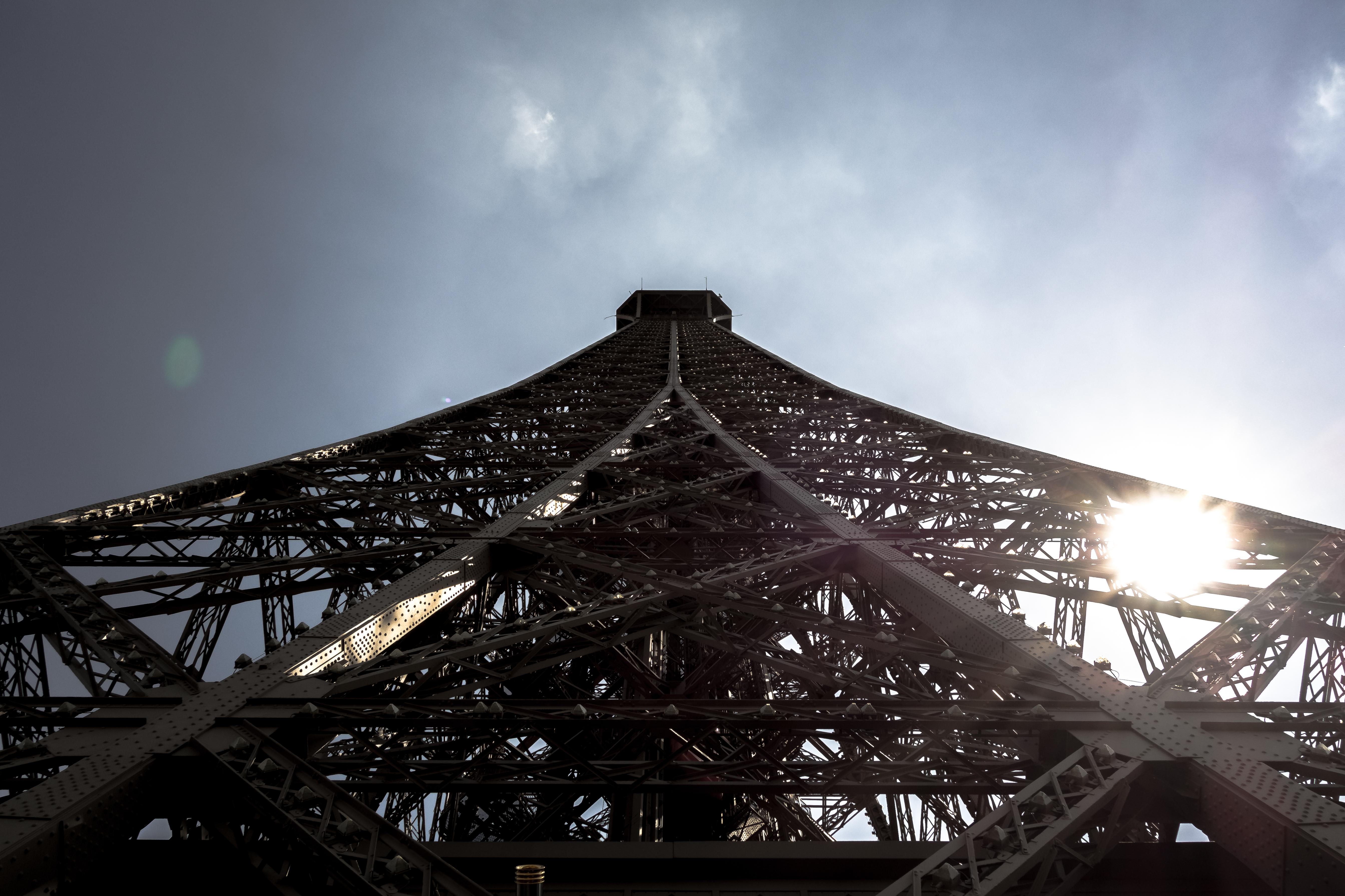 La tour Eiffel vue du deuxième étage