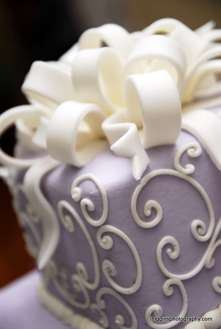 Lavender Wedding Cake Toppers