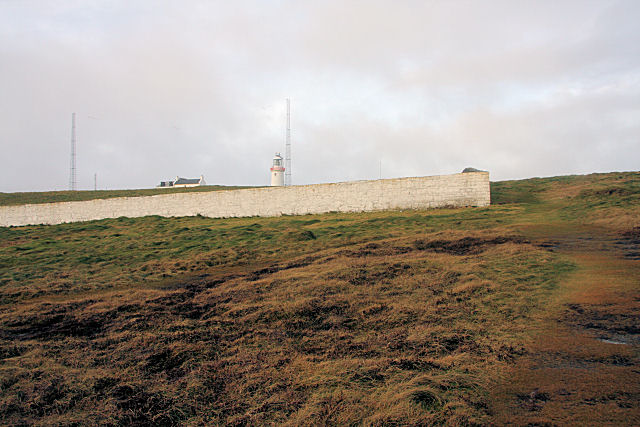 Lighthouse wall at Loop Head - geograph.org.uk - 1088815