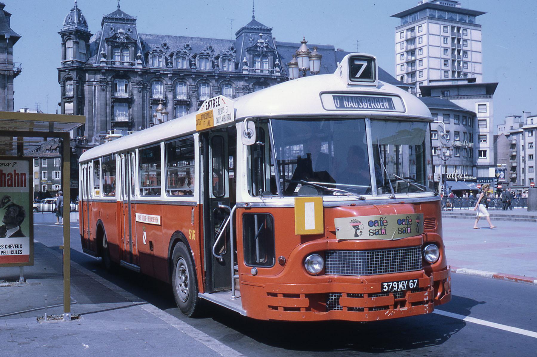 file ligne 7 strasbourg place kl ber 1969 bus wikimedia commons. Black Bedroom Furniture Sets. Home Design Ideas