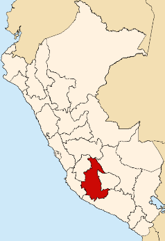 Location  of the Ayacucho region in Peru