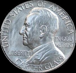 Lynchburg Sesquicentennial half dollar US coin worth 50 cents