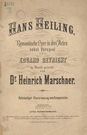 Hans Heiling, Klavierauszug (Quelle: Wikimedia)