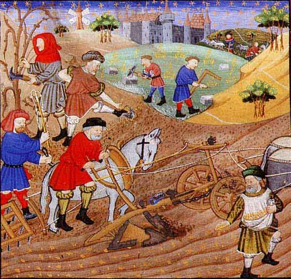 medieval farmers and laborers