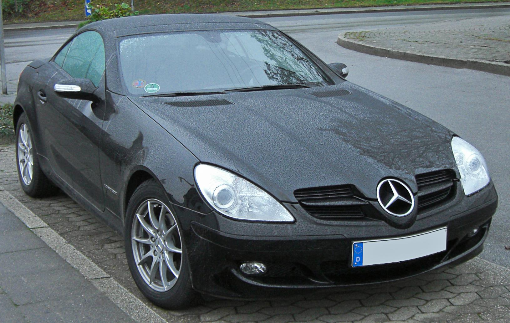 File Mercedes Slk 200 K Front 20091209 Jpg Wikimedia Commons
