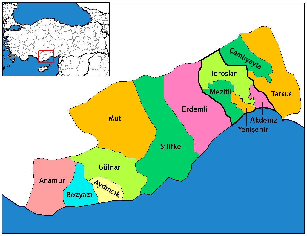 Image result for mersin haritası
