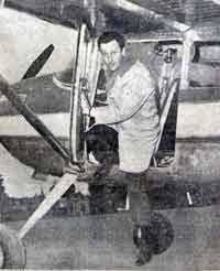 Miguel L. Fitzgerald flew to the Falkland Islands in a light aircraft in 1964 and 1968. (Originally published by Cronica, 9 September 1964.) MiguelLFitzergersald.jpg