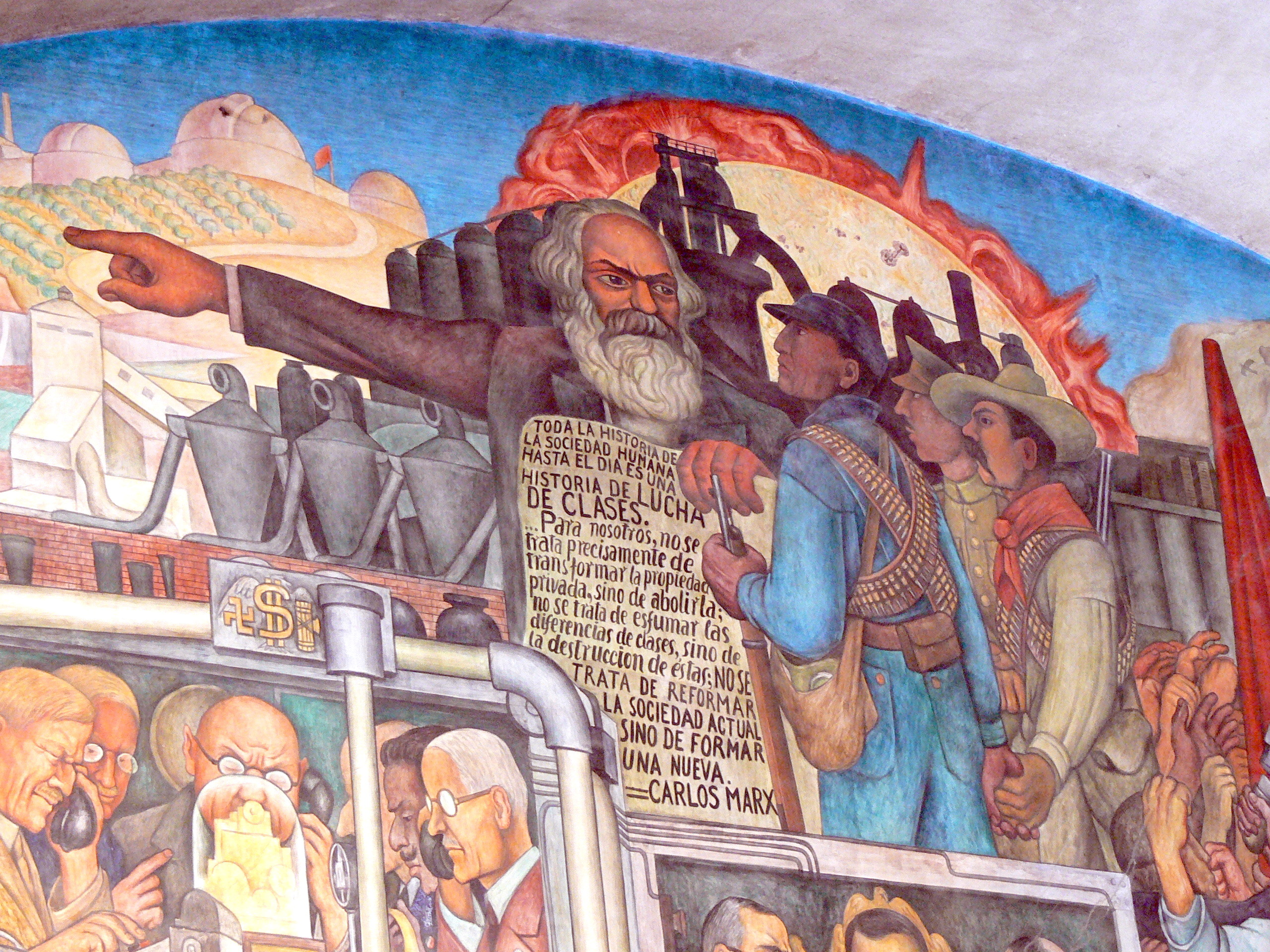 Uma est ria do m xico segundo diego rivera for Diego rivera lenin mural