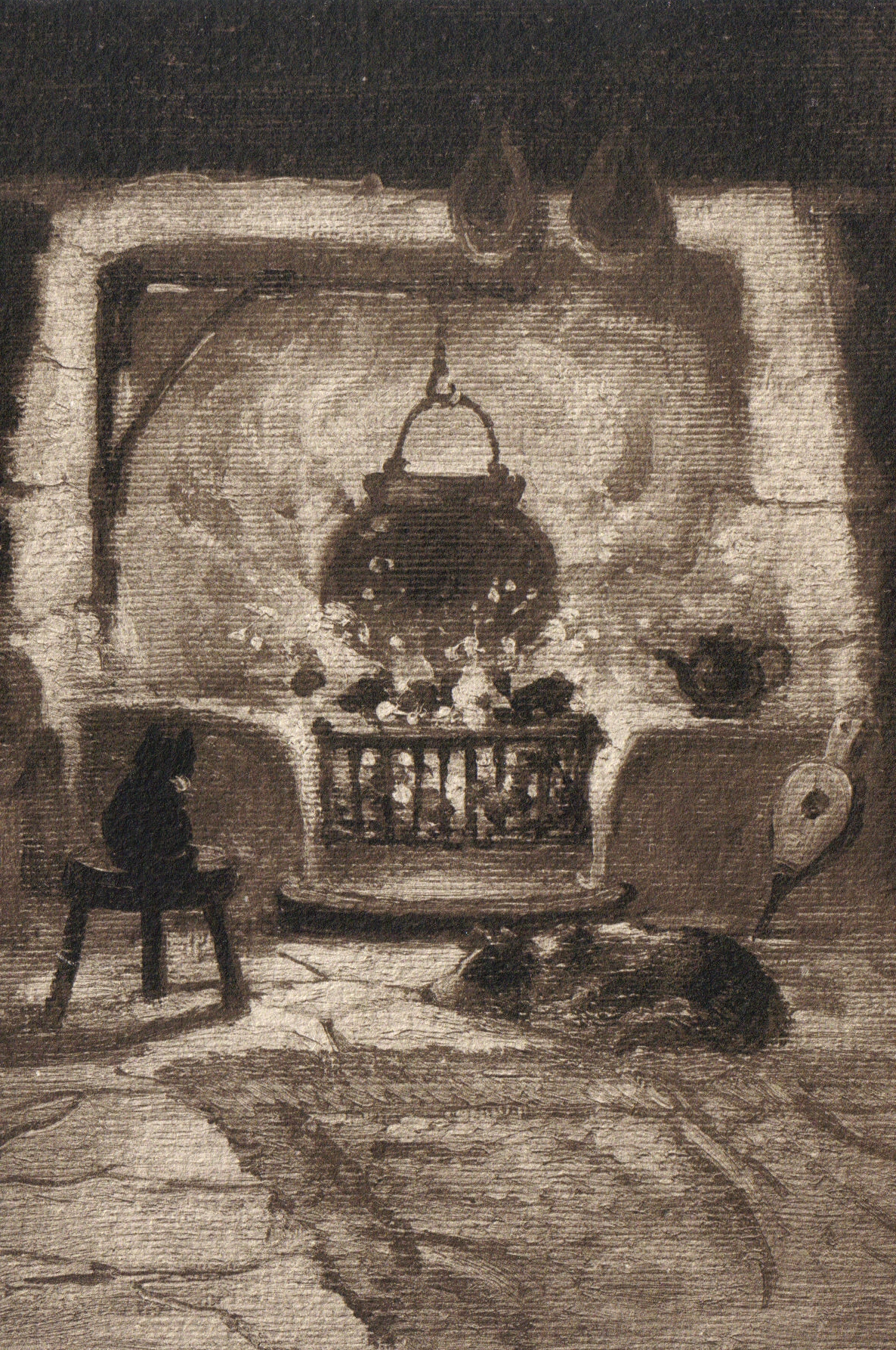 File Old Cottage Fireplace And Pets Jpg Wikimedia Commons