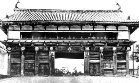 The imposing Otemon gate was still standing until the bombing of 1945.