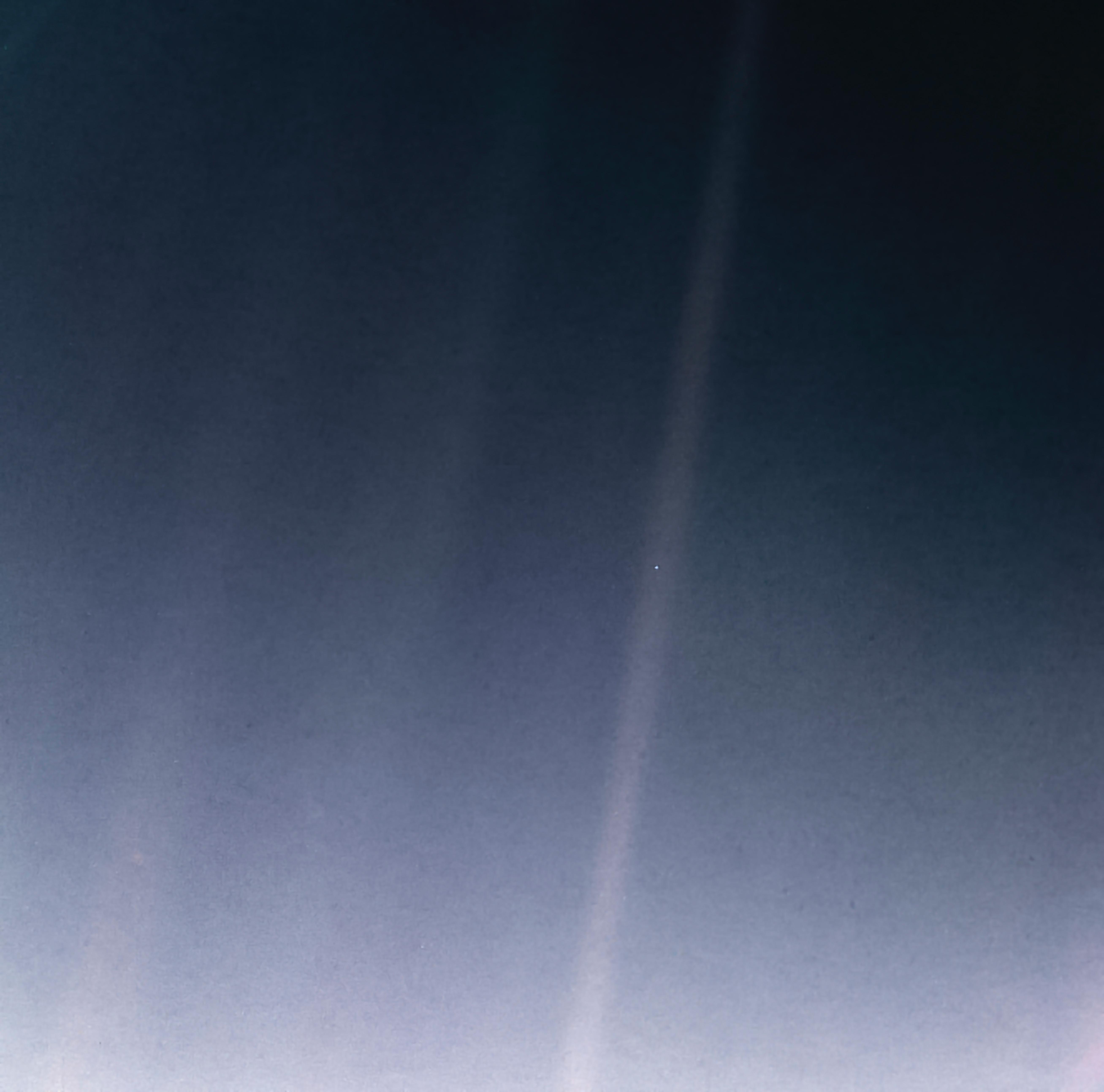 NASA Pale blue dot photo