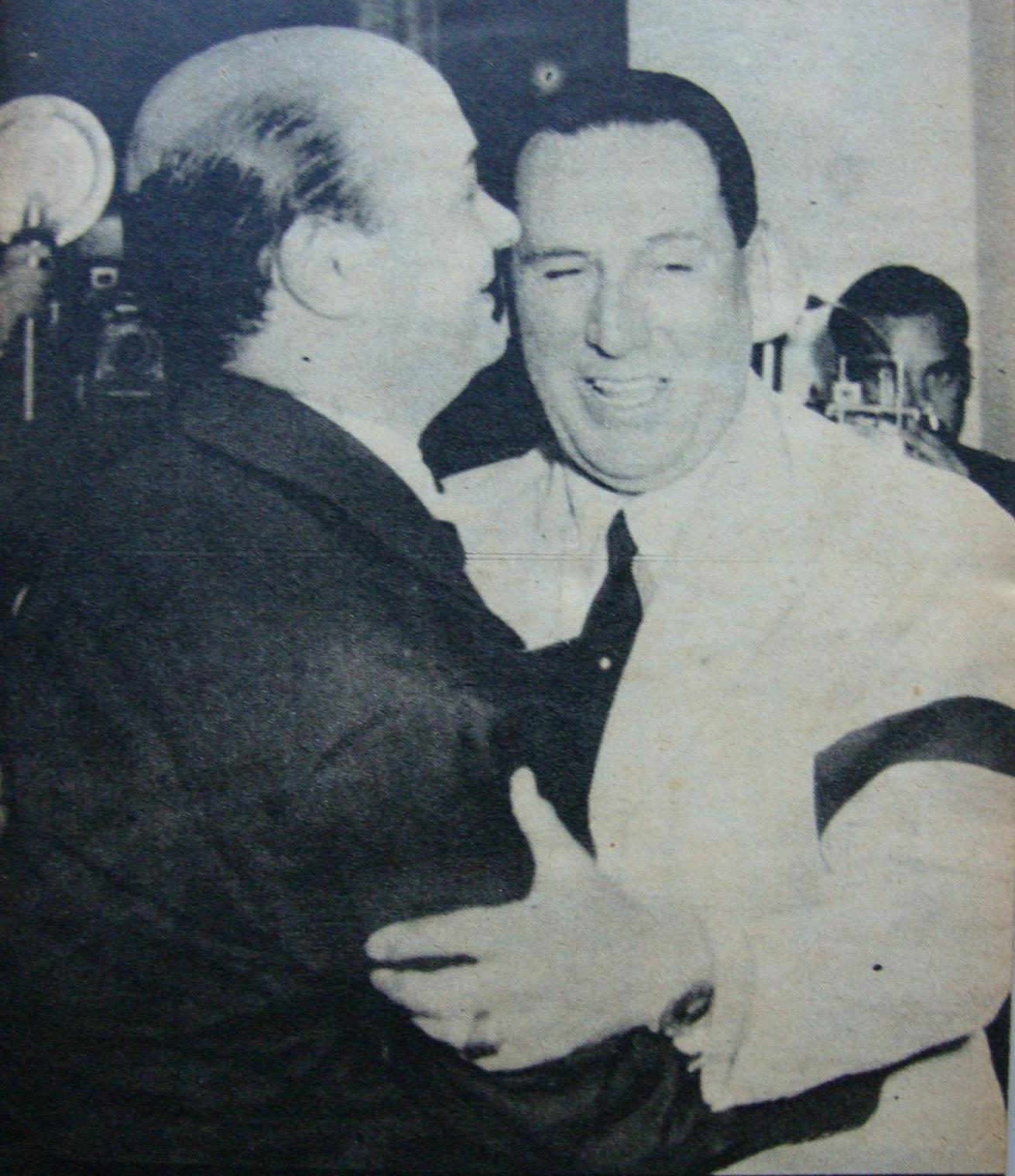 Junto a Perón en 1953.