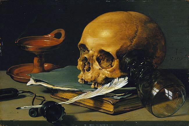 File:Pieter Claeszoon - Still Life with a Skull and a Writing Quill.JPG