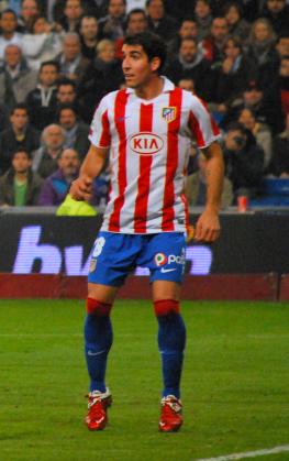 English: Spanish football player Raúl García E...